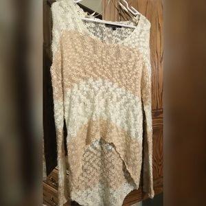 High low sweater-long sleeve